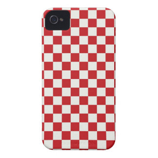 Red and White Checkered Pattern Country BBQ Colors iPhone 4 Covers
