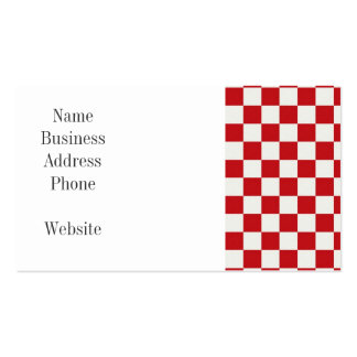 Red and White Checkered Pattern Country BBQ Colors Pack Of Standard Business Cards