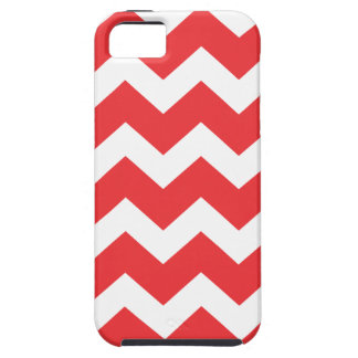 Red and White Chevron Case For The iPhone 5