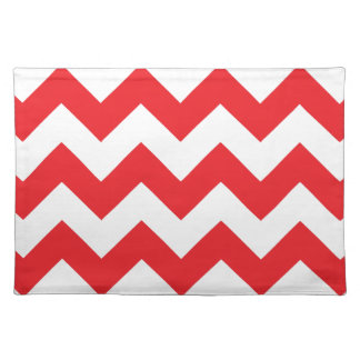 Red and White Chevron Placemat