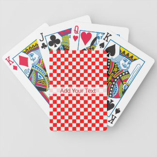 Red And White Classic Checkerboard by STaylor Bicycle Playing Cards