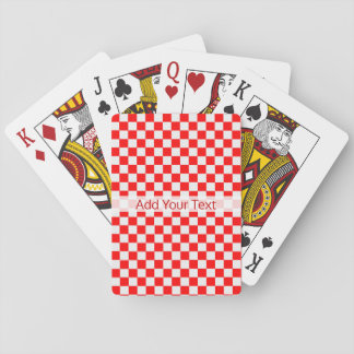 Red And White Classic Checkerboard by STaylor Poker Deck