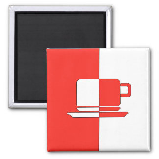 Red and White Cup Magnet