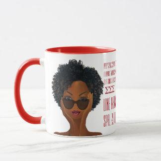 Red and White Custom Greek Sorority Gift Mug