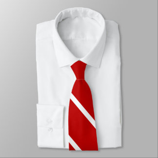 Red and White Custom University Stripe Tie