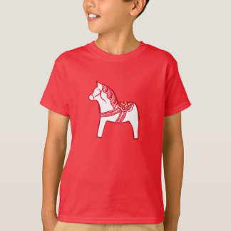 Red and White Dala Horse Shirt