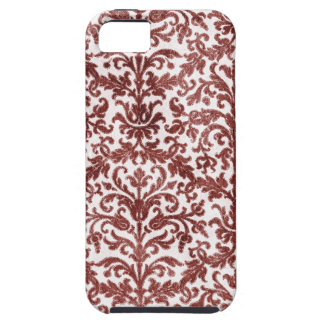 Red and White Damask Wallpaper Pattern iPhone 5 Cover