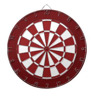 Red and White Dartboard
