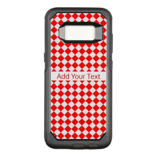 Red And White Diamond Pattern by ShirleyTaylor OtterBox Commuter Samsung Galaxy S8 Case