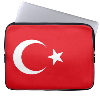 Red and White Flag of Turkey Laptop Sleeve