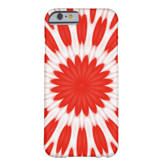 Red and White Floral Pattern Barely There iPhone 6 Case