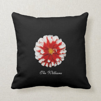 Red and White Flower Blossom Pillow Cushion
