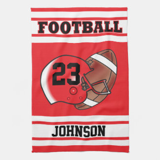 Red and White Football Jersey Towel