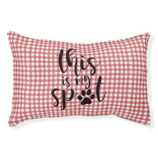 Red and White Gingham Dog Bed