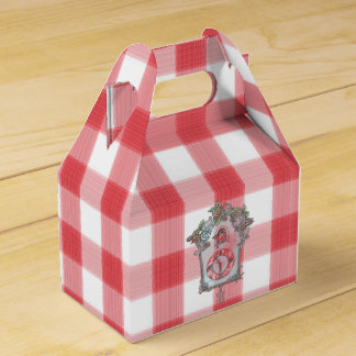 Red and White Gingham Gift Box