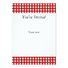 Red and White Gingham Pattern Card
