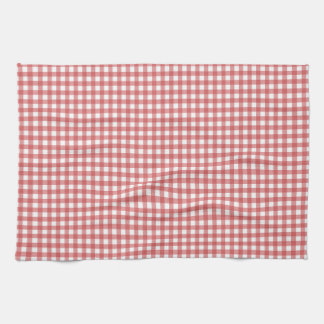 Red and white gingham towel
