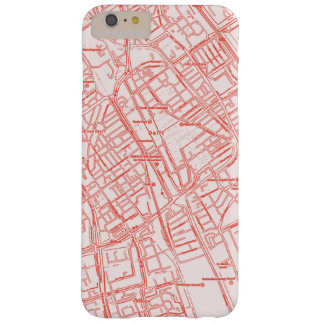 Red and White Global Vintage Street Map Phone Case