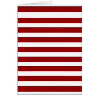 Red and White Horizontal Stripes Pattern Greeting Card