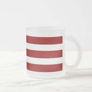 Red and White Horizontal Stripes Pattern Coffee Mug