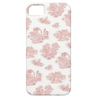 Red and white Jouy print iPhone 5 Cases
