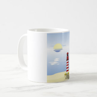 Red And White Lighthouse Mug