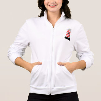 Red And White Lighthouse Womens Jacket
