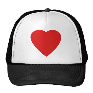 Red and White Love Heart Design. Cap