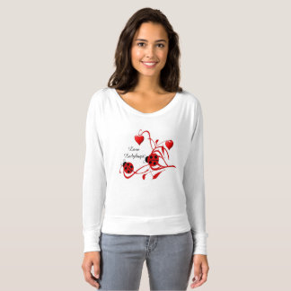 Red and White Love Ladybugs Bella Fashion Shirt