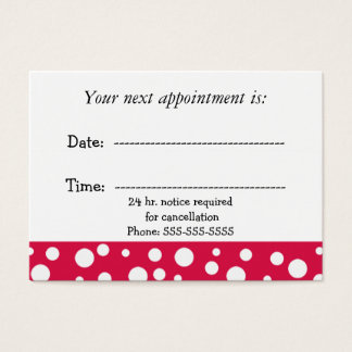 Red and White Medical  Appointment