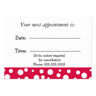 Red and White Medical  Appointment Pack Of Chubby Business Cards