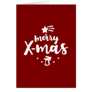 Red And White Merry Xmas Card