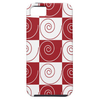 Red and White Mouse Tails iPhone 5 Case