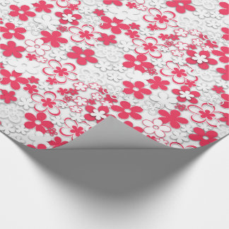 Red and white paper flowers