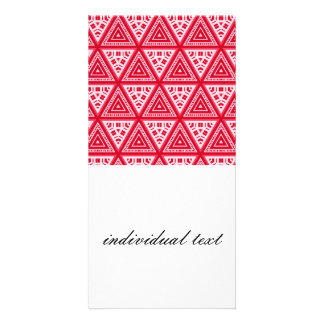 Red and White Pattern 04 Photo Greeting Card