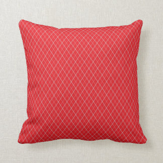 Red and White Pattern Cushion