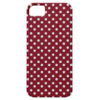 Red and white pin polka dot pattern polka dots iPhone 5 covers