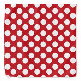 Red and White Polka Dot Bandanna