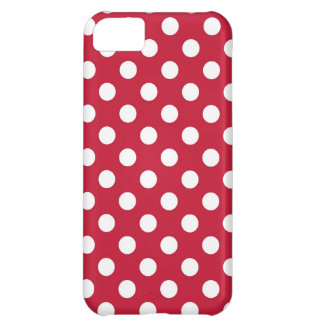 Red and White Polka Dot iPhone 5C Case