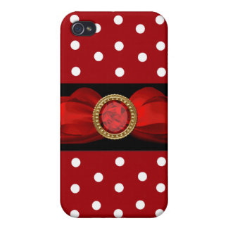 Red and White Polka Dot iPhone 4 Cover