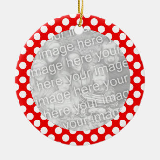 Red and White Polka Dot Ornament