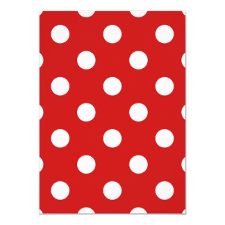 Red and White Polka Dot Pattern Card