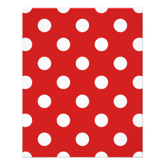 Red and White Polka Dot Pattern Flyer