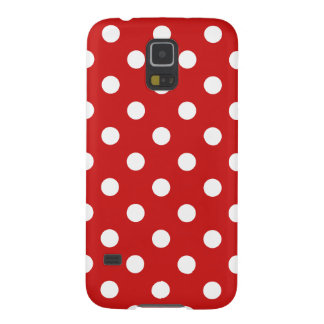 Red and White Polka Dot Pattern Galaxy S5 Cover