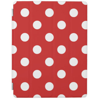 Red and White Polka Dot Pattern iPad Cover