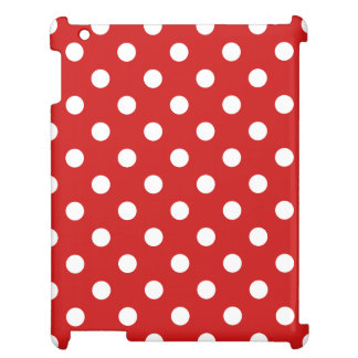 Red and White Polka Dot Pattern iPad Covers