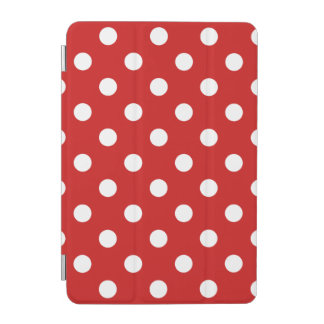 Red and White Polka Dot Pattern iPad Mini Cover