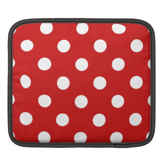 Red and White Polka Dot Pattern iPad Sleeve