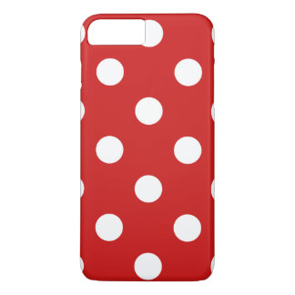 Red and White Polka Dot Pattern iPhone 8 Plus/7 Plus Case