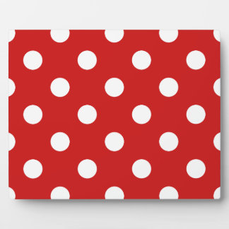 Red and White Polka Dot Pattern Plaque